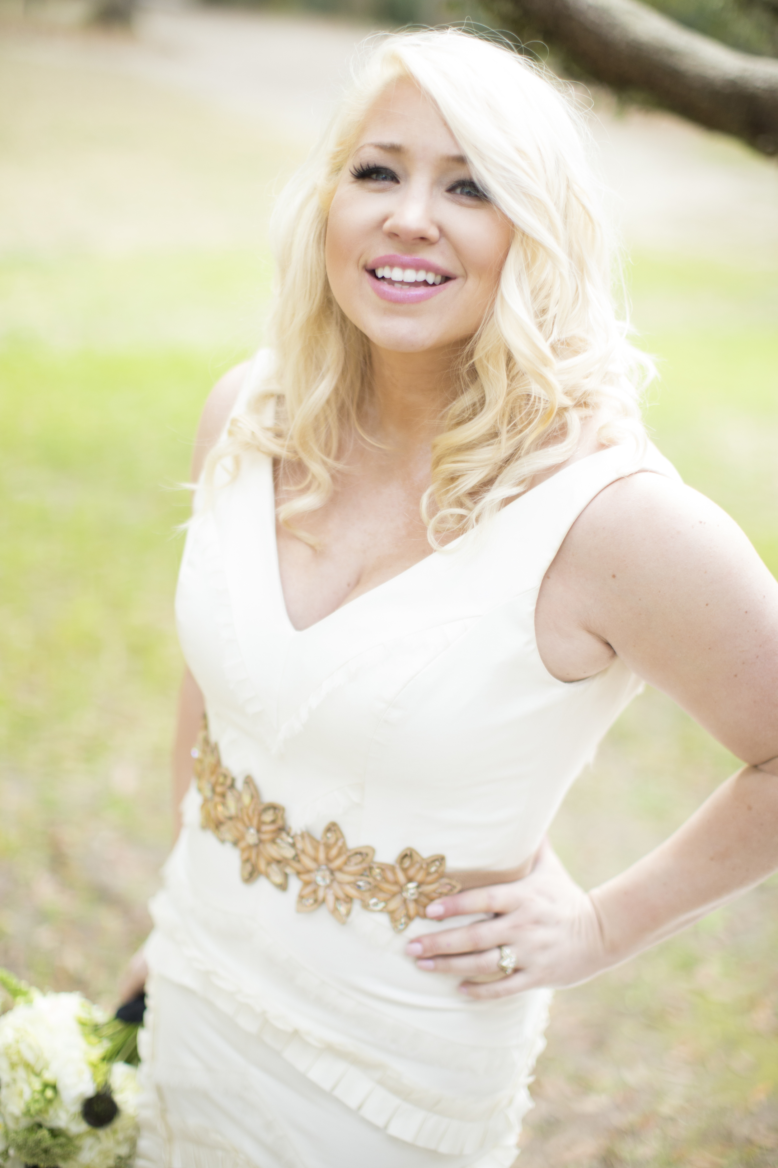 Meghan Walker of Pink Dot Beauty Bar at her bridal portraits