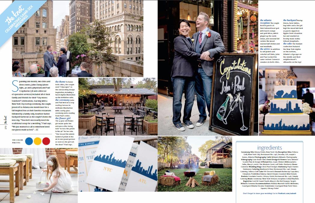 john and paul's epic new york city same-sex wedding planners