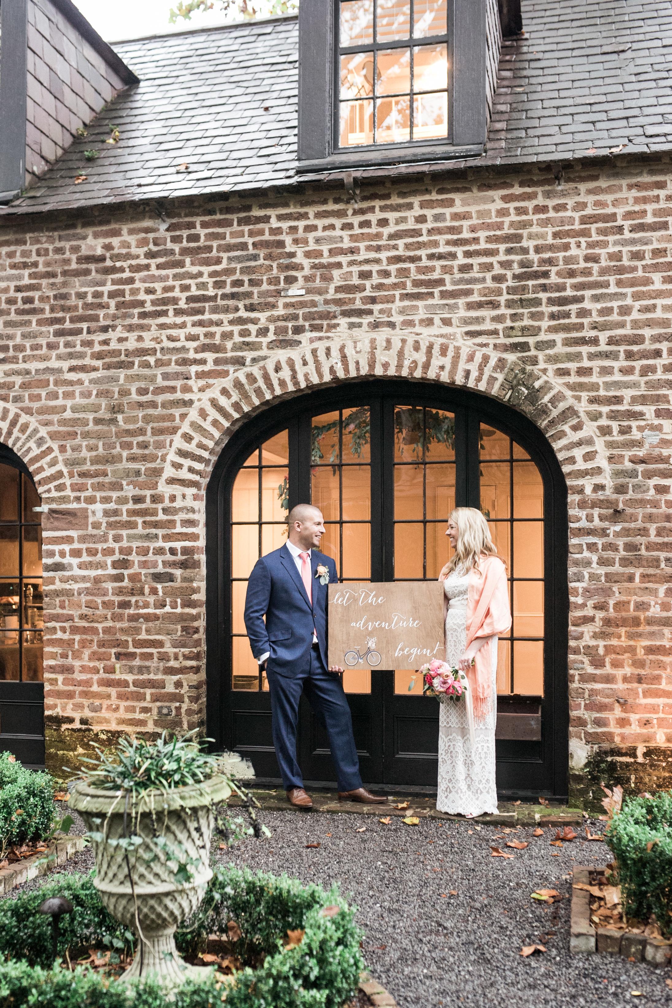 charleston elopement planners, scarlet plan & design, coral, tangerine, hot pink, peach intimate wedding (97).jpg
