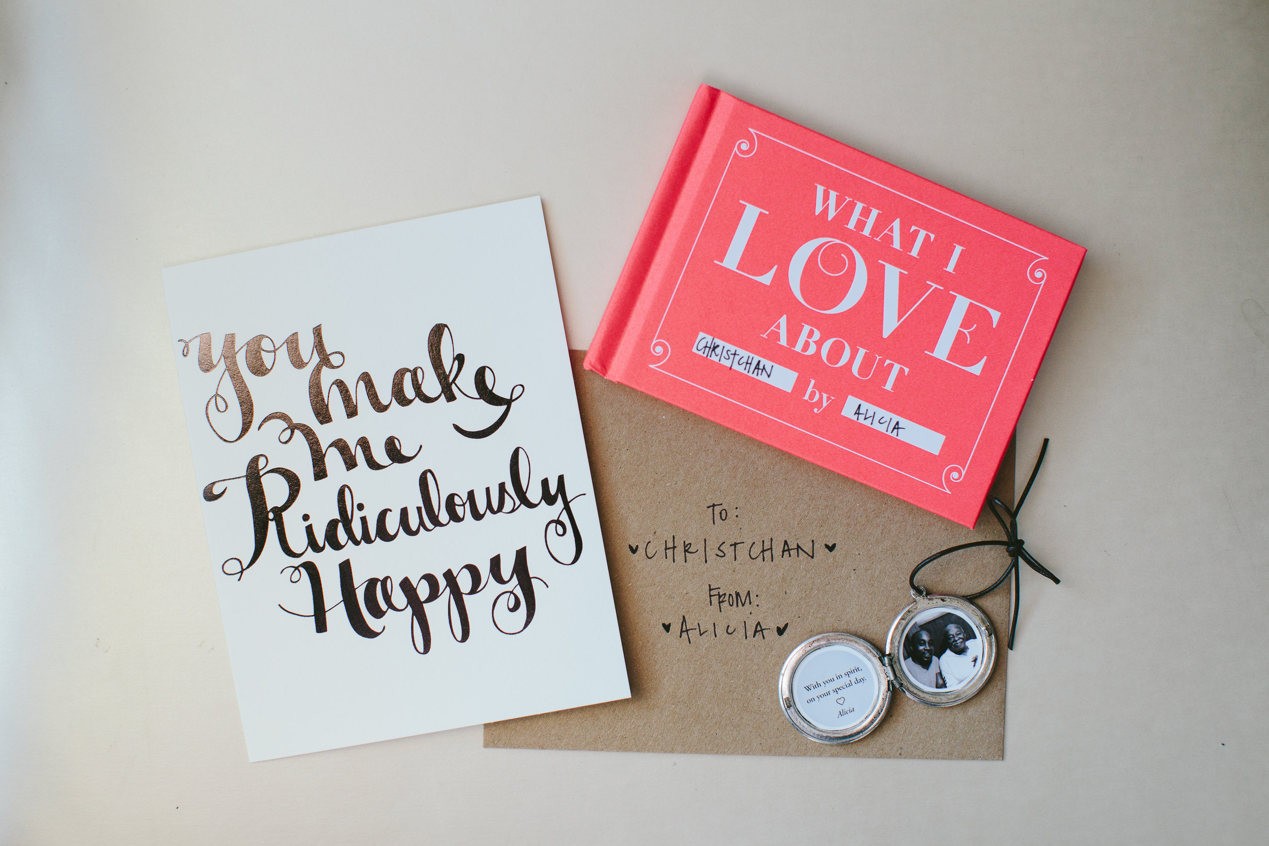 bride and groom's gifts, wedding details | atlanta wedding planners