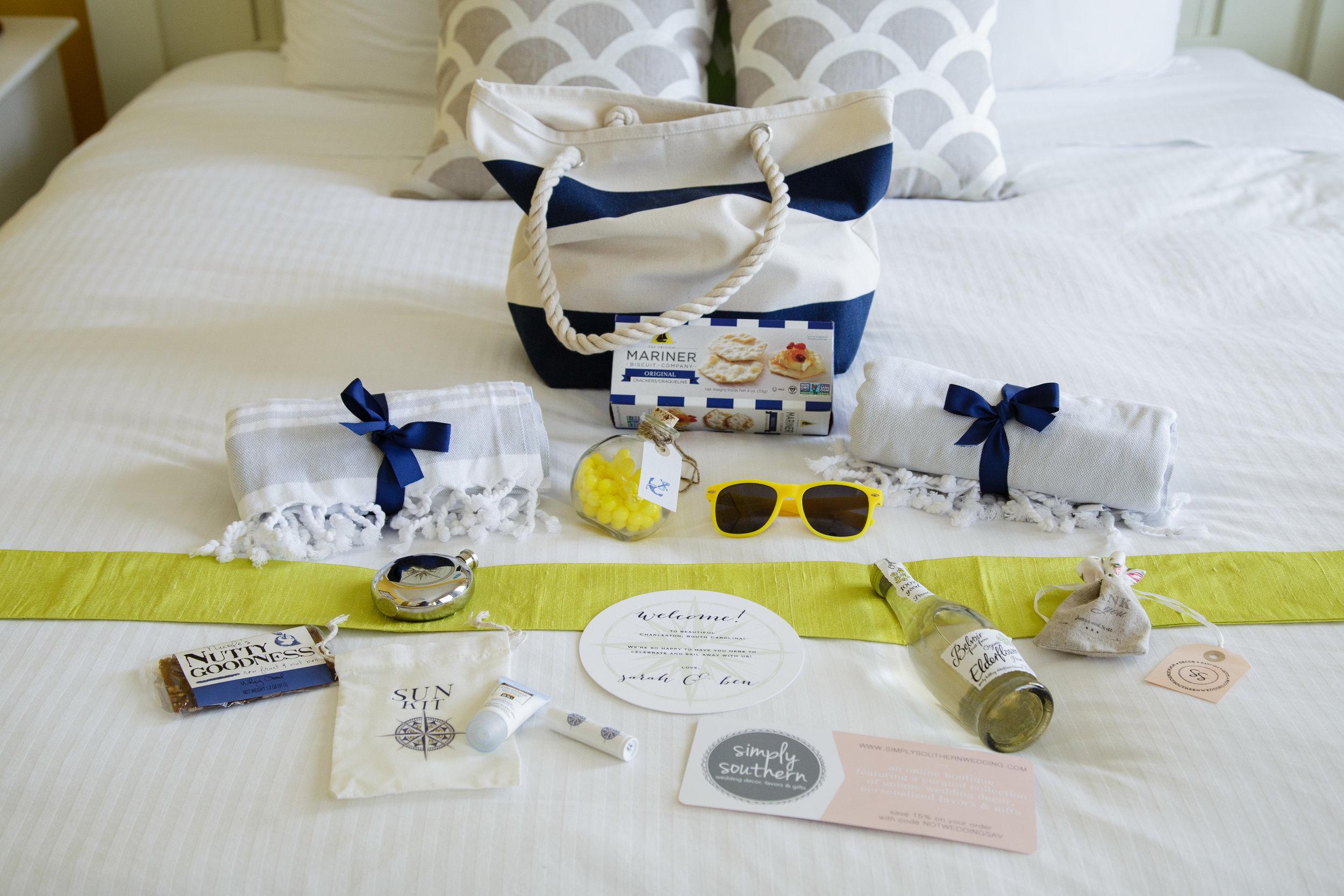 nautical wedding welcome bags