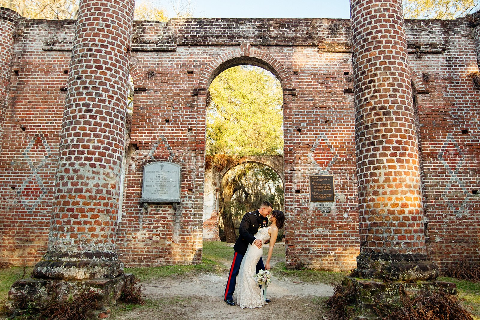 Liz & Josh - Old Sheldon church ruins