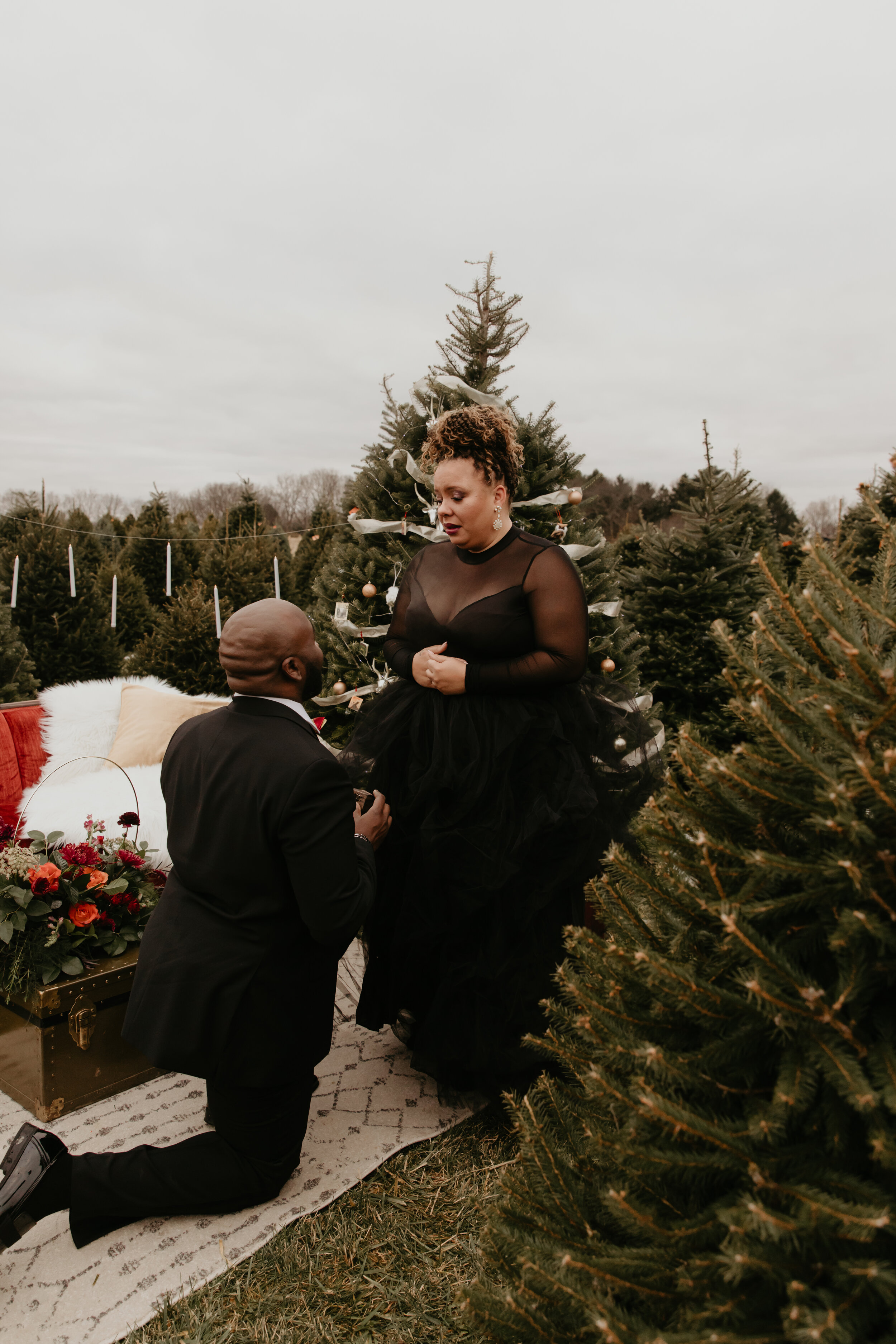 Atlanta Christmas Marriage Proposal 2021 Scarlet Plan Design