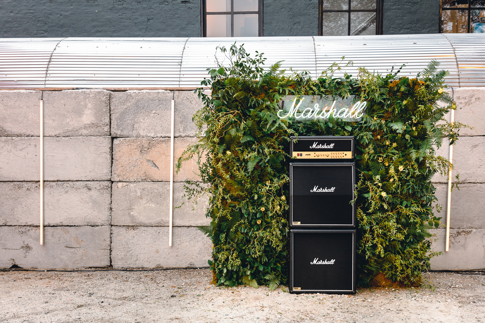 04.15.10 Marshall Amp Event, Brooklyn, New York Ferns, moss and branches from upstate.