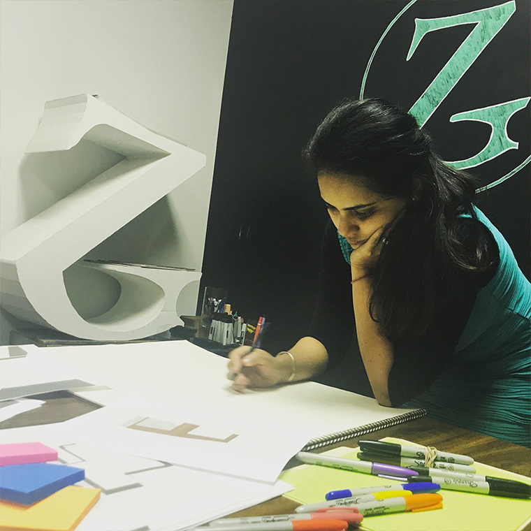 Jalpa takes the design process seriously. She believes that ideation and conceptualization sets the tone for the project as a whole.