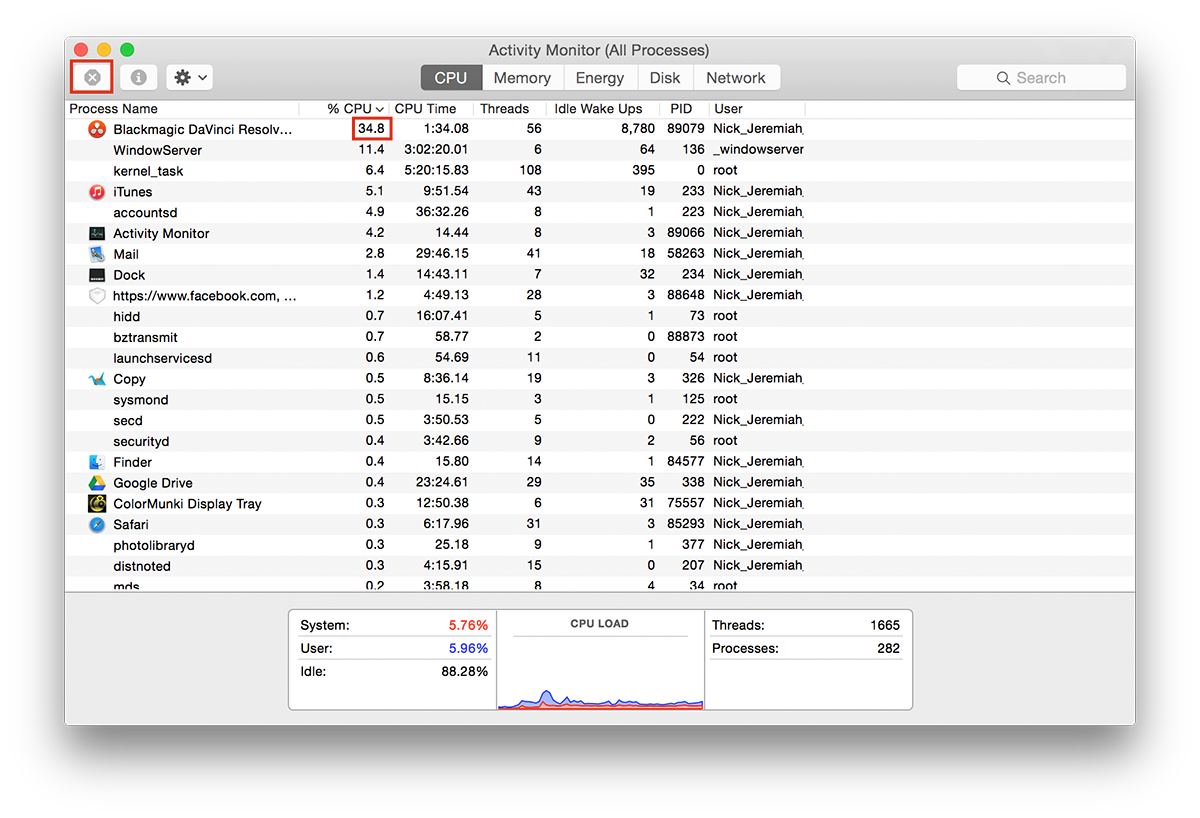 Activity Monitor - Mac Maintenance | nickdjeremiah.com