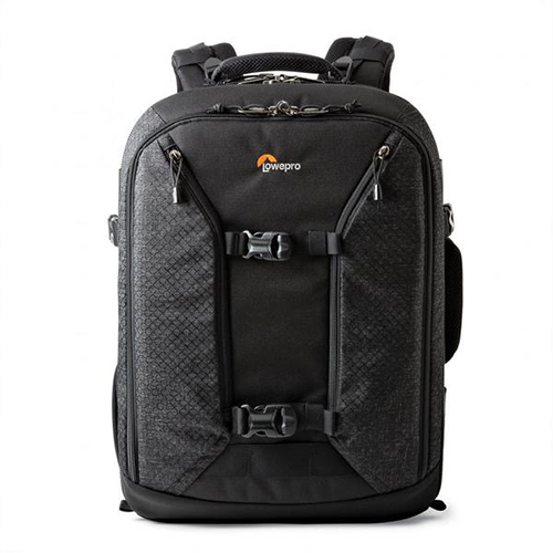 LowePro Pro Runner 450 AW II - I recommend this particular bag from LowePro because I own it. It's a heavy bag, but fits all my gear, has chest and waist straps to help spread the load and has a dedicated laptop section that fits a 15