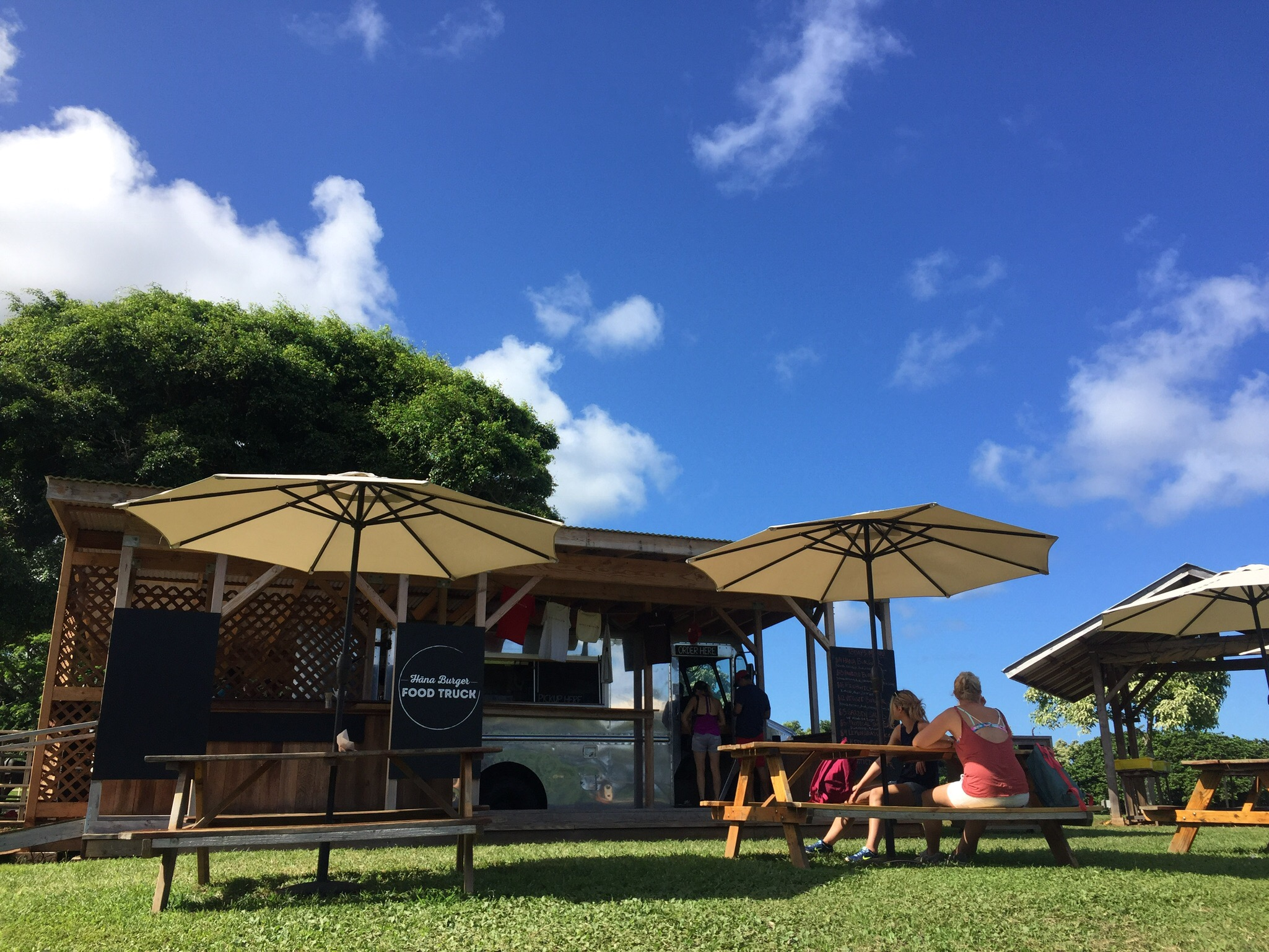 We were starving on the way back from the hike, so we stopped for food at this sweet little food truck in Hana.