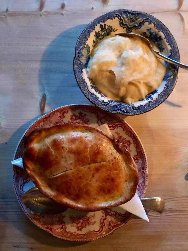 I ate a chicken artichoke pie at  Maggie Joness .This puts our chicken pot pie to absolute shame.