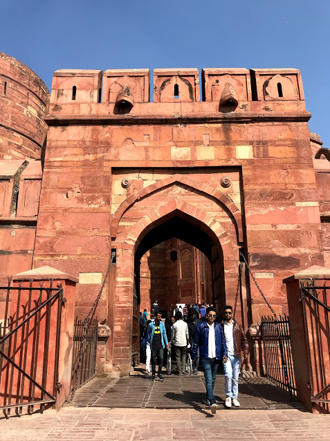 Entrance to the Red Fort. It was built by the Mughal Emperor Shah Jahan and served as the capital of the Mughals until 1857