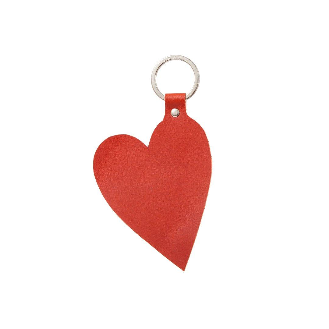 Clare V.  heart keychain
