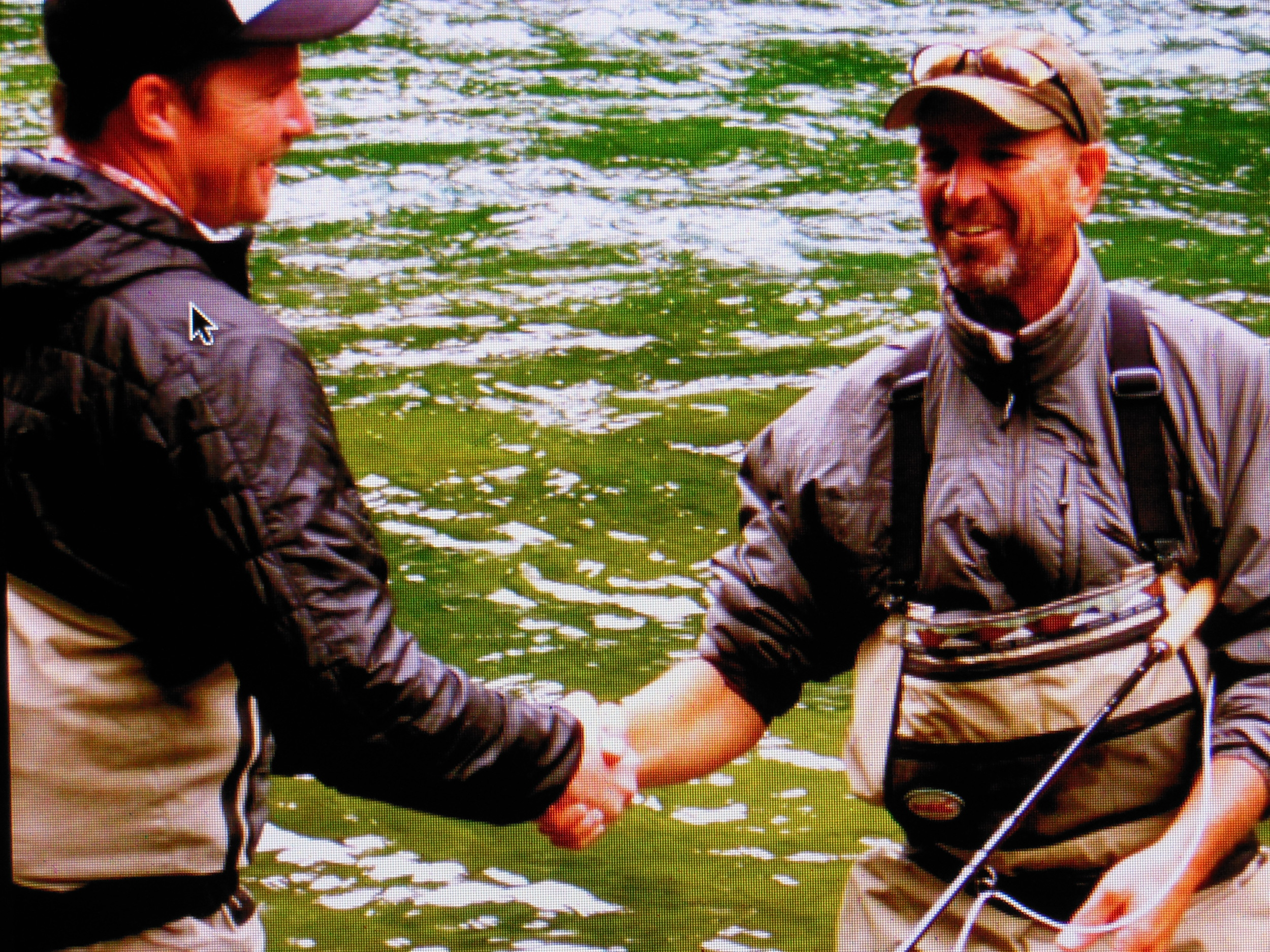 The most genuine hand shake, every North fish landed gets a shake but, your first, and on a dry, definitely is the best. Mike Ivy with a smile after his first.