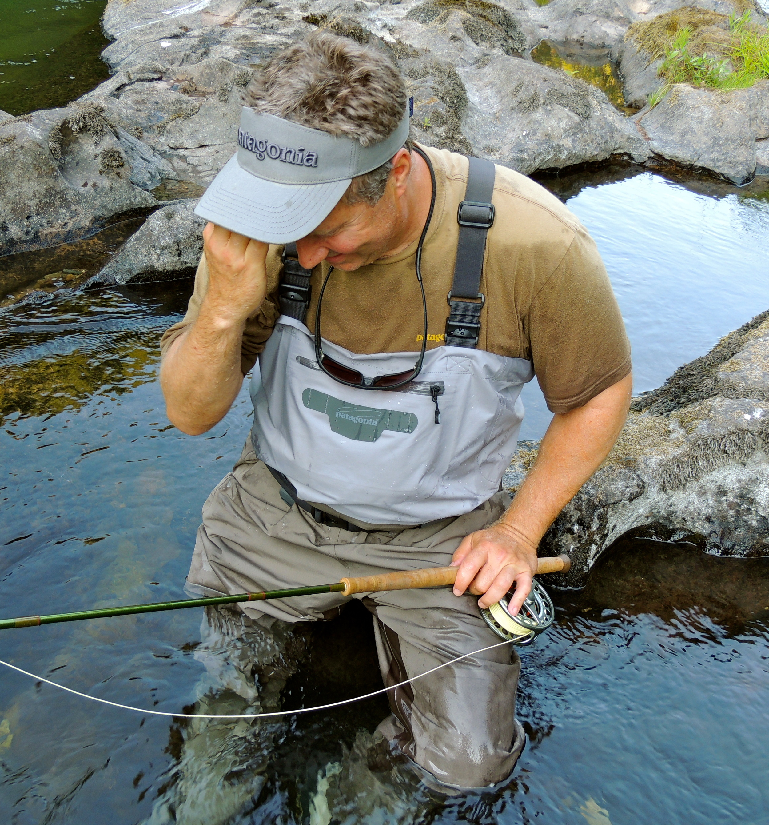 Chris Marto, dealing with the feeling that comes after landing a steelhead that completely clears the water for you fly and then landing is. The guy gets it.