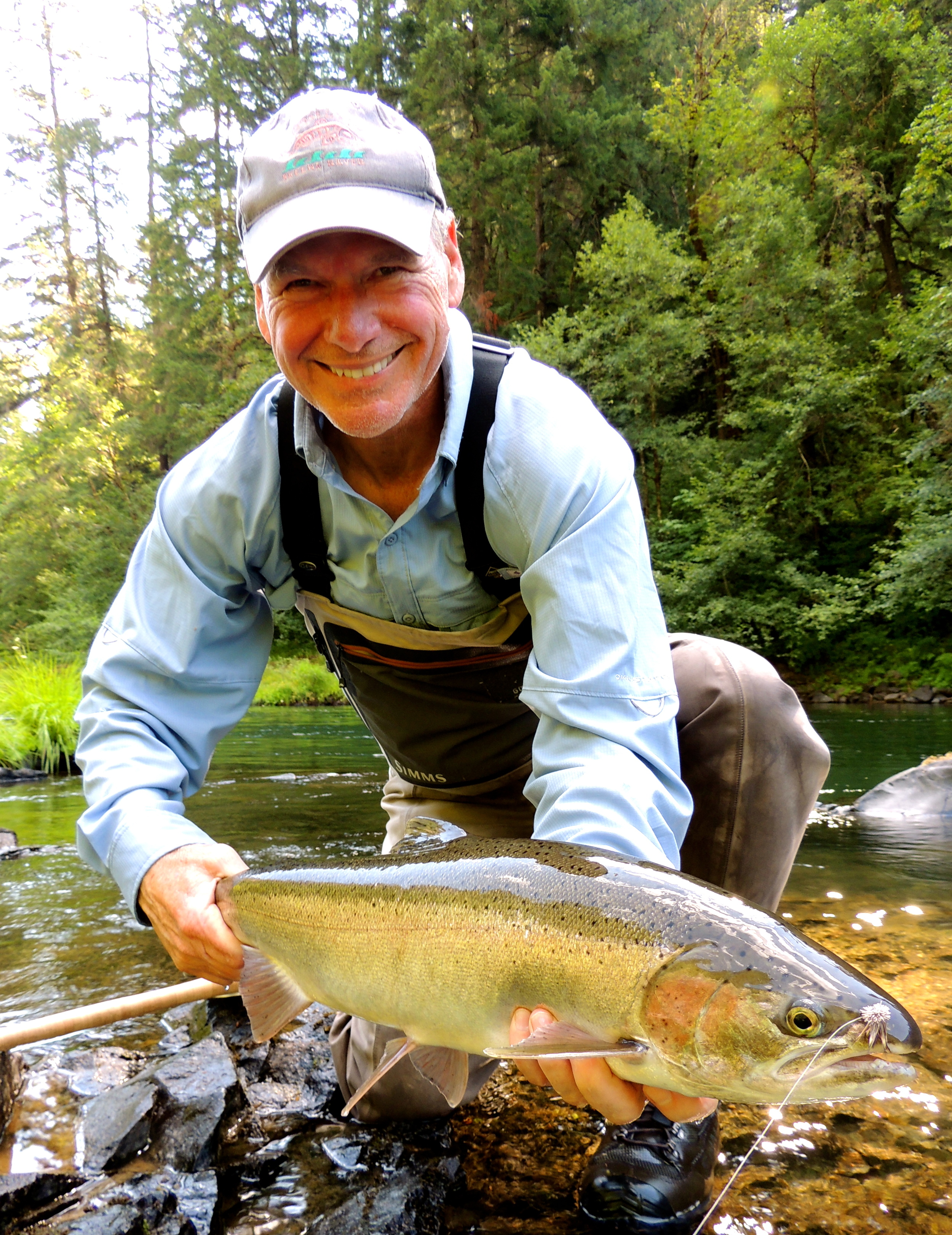 Bruce Moore with a dandy that cleared the water for the dry.