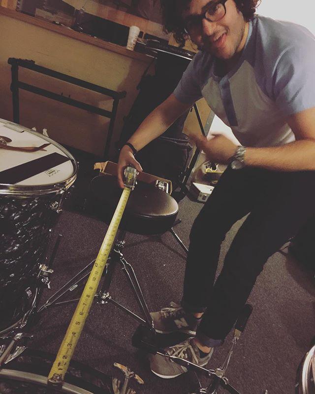 Let's talk all time OCD psychos... @reubengarza #drummer #recording