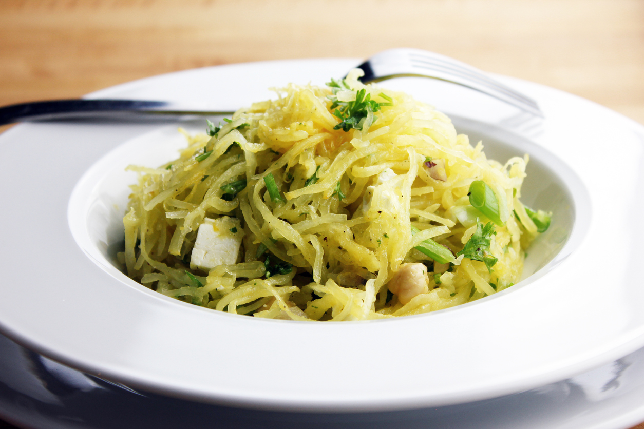 Cook a spaghetti squash in the slow cooker, then try recipes for   Spaghetti Squash Salad   or   Spaghetti Squash Casserole  .