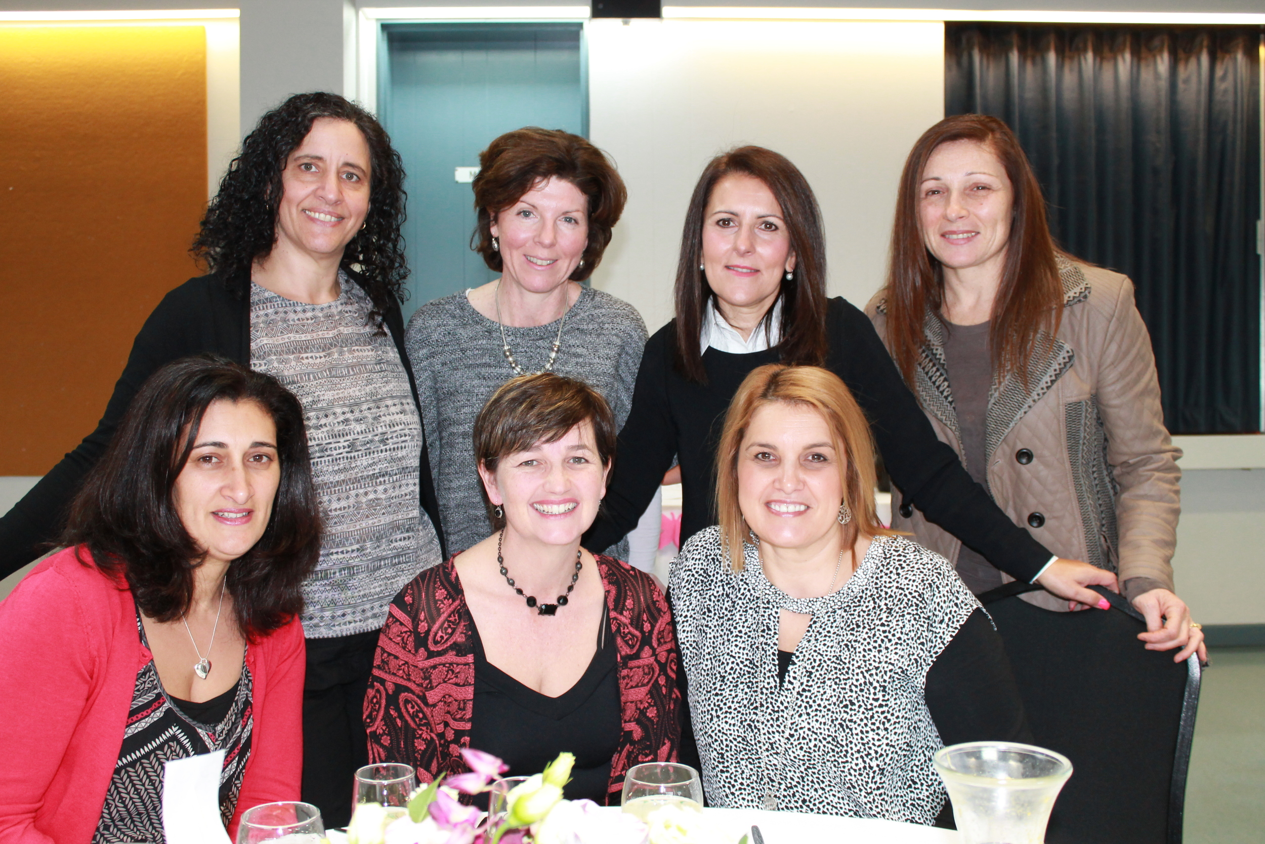 Year 7 Mums with others at Past and Present Mothers Lunch