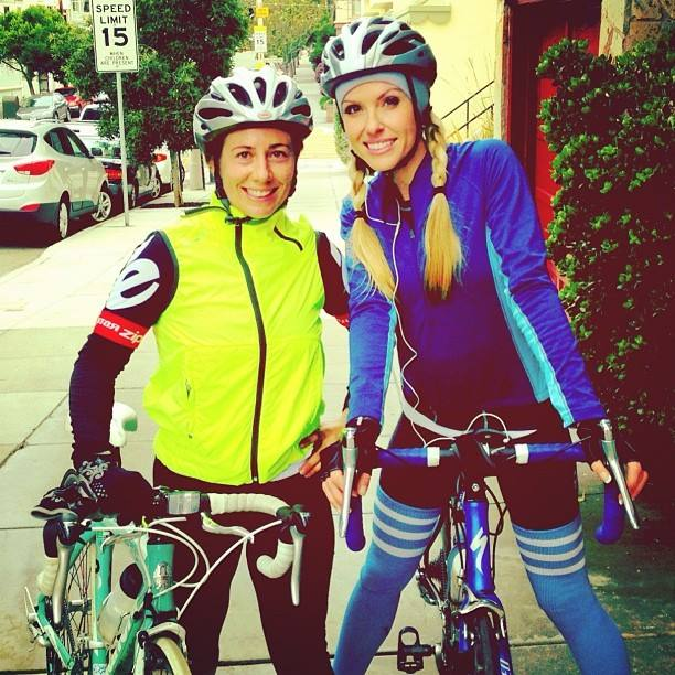 GetHSH supports Leila Burrows, owner of the Pad Yoga Studios, training for the Aids LifeCycle ride.