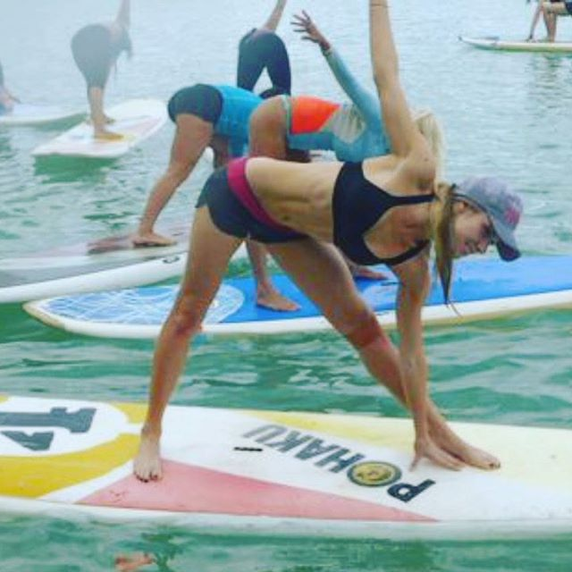 Happy International Yoga Day! 💛 Get stretchy & bendy this weekend for lower back & hamstring health. Sending love to the yogi who took such good care of me on this Wanderlust trip @jennperellbush ✨. . . . #bendy #stretchy #happy #healthy #flexibly #resilient #body #yoga #yogi #athlete #yogaeverydamnday #wellness #coach #nasm #teacher #training #sup #supyoga