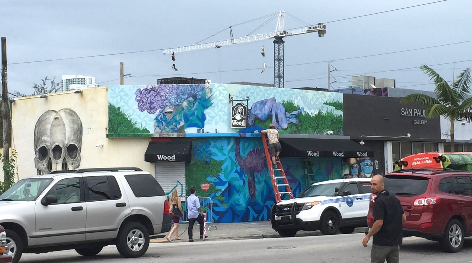 Narcissus, work-in-progress,  #MarcManiac, NW 2nd Avenue, Wynwood Miami, 12/15