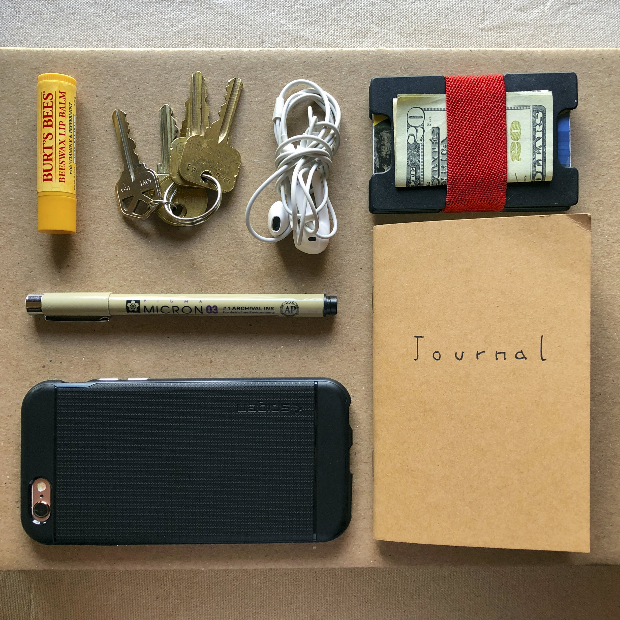 Functionality is very important to us, which is why everything we design has roomy pockets to fit all the essentials. Like phone, keys, wallet, compact and lipstick, or even a journal and a pen.