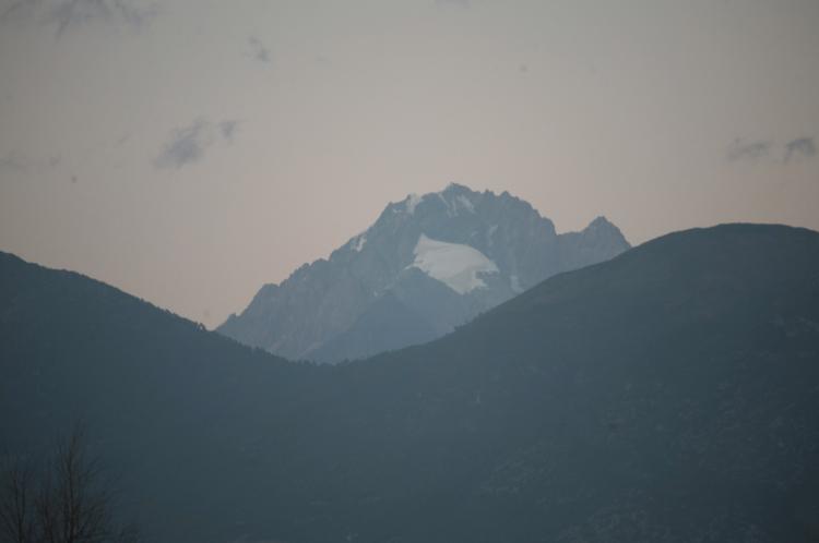 View of Jade Dragon Snow Mountain from Lijiang Studio, Jixiang village, Lashihai