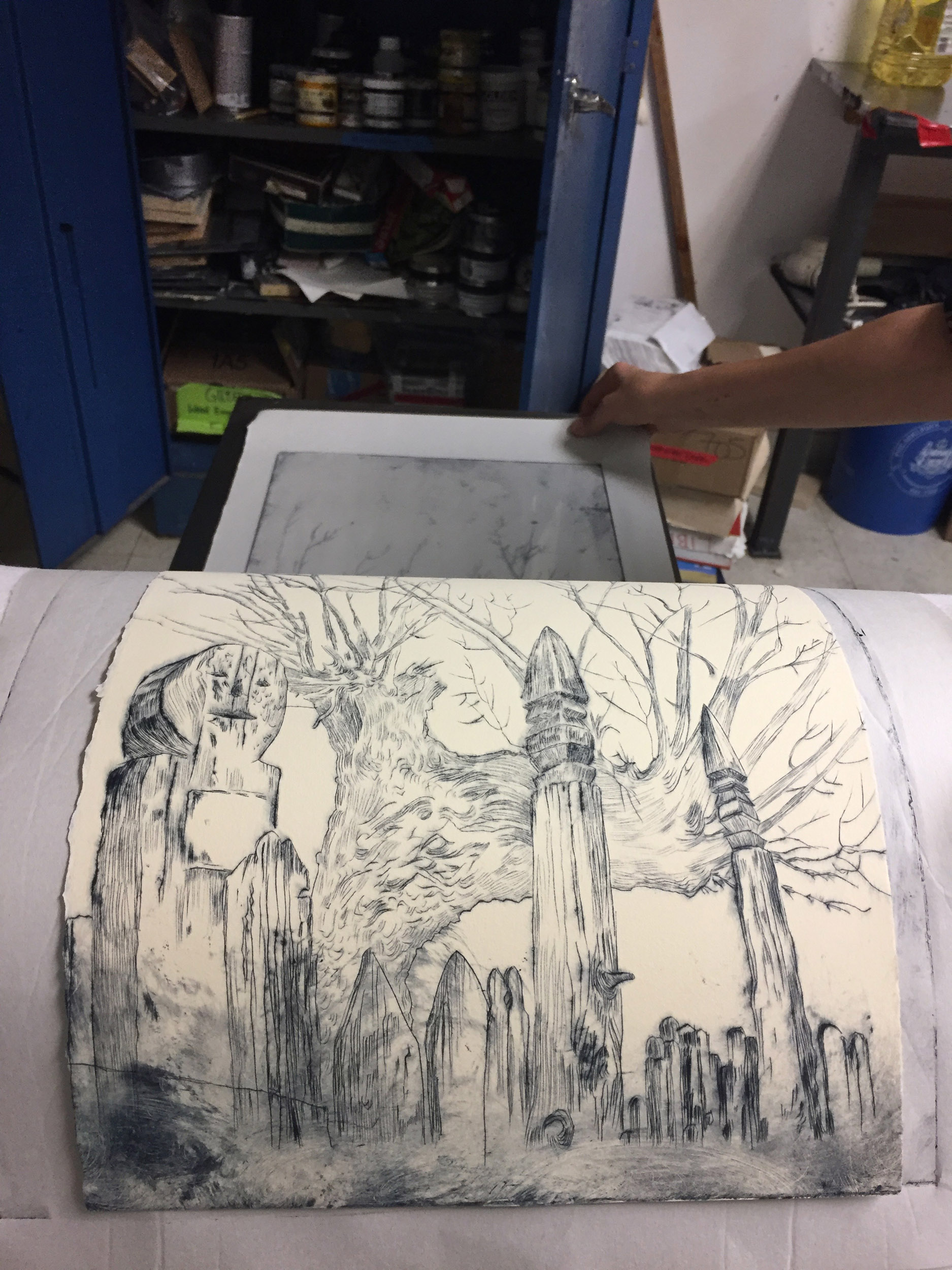 Drypoint on plexi