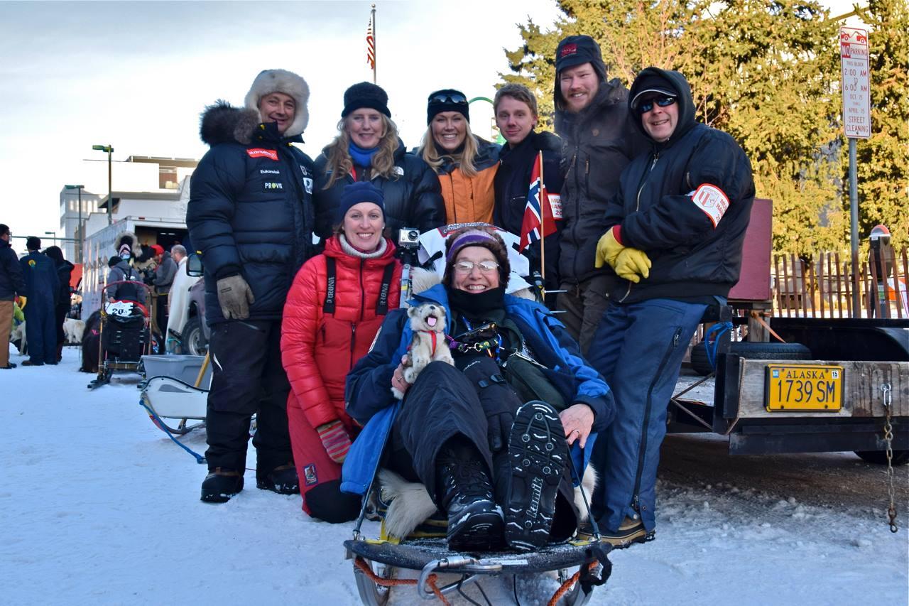 Team Ralph Johannessen at the cermonial start in Anchorage.