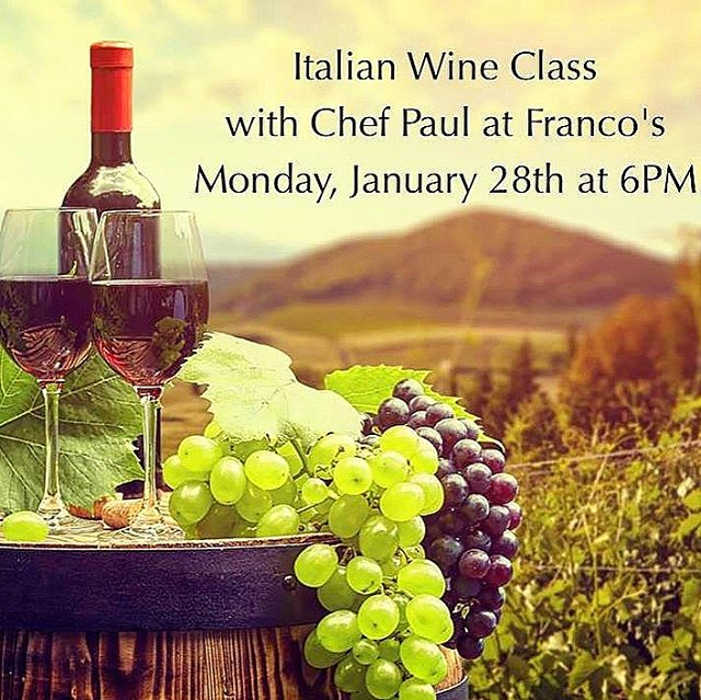 Friends, Franco's is closed New Year's Eve and New Year's Day. Thank you for making 2018 a wonderful year. We wish you a happy & healthy 2019. Join us for our Italian Wine Event🍷Monday, January 28🍷at Franco's! Reservations: 570-327-1840. 💋