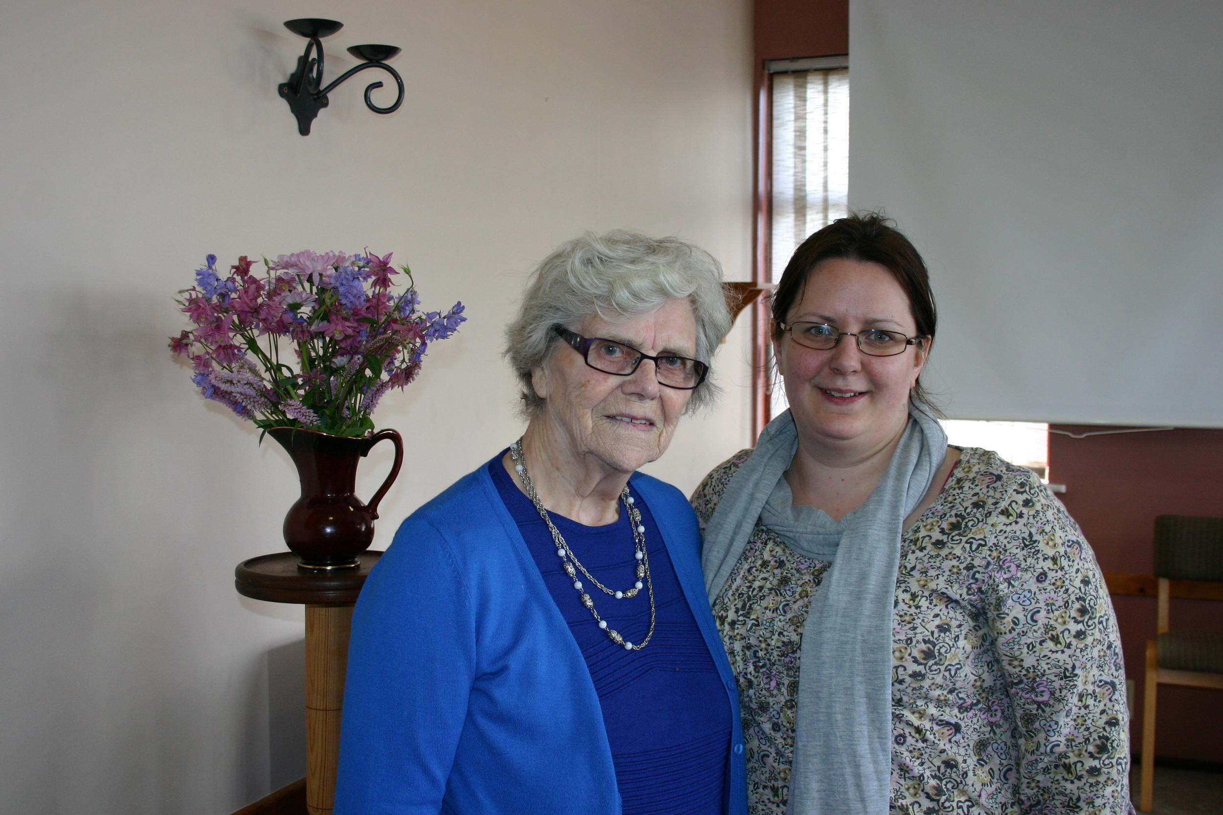 Margaret Barker and her granddaughter Deborah Davitt