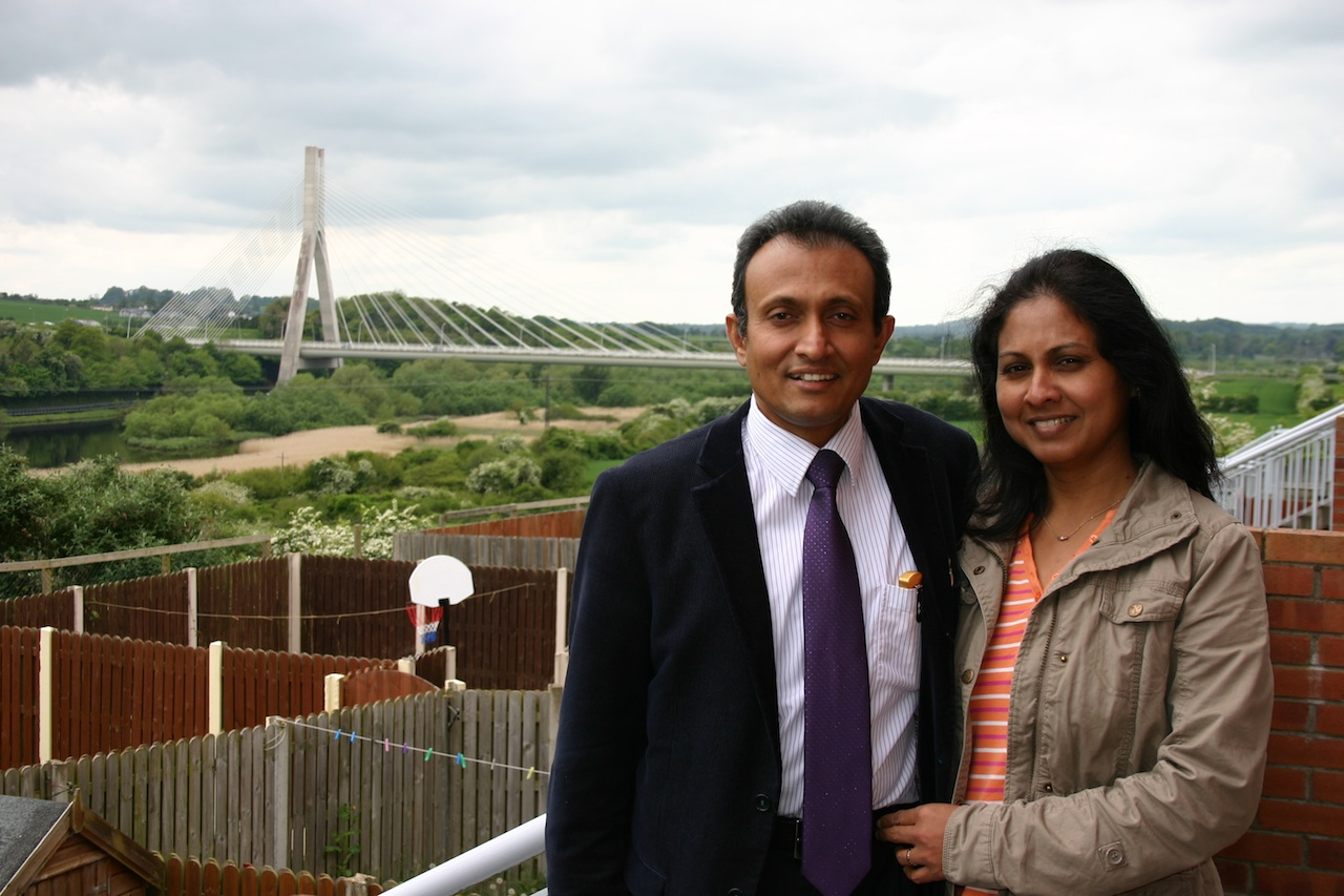 Dr Jubil Thomas and his wife Neeta in Drogheda, Co Louth