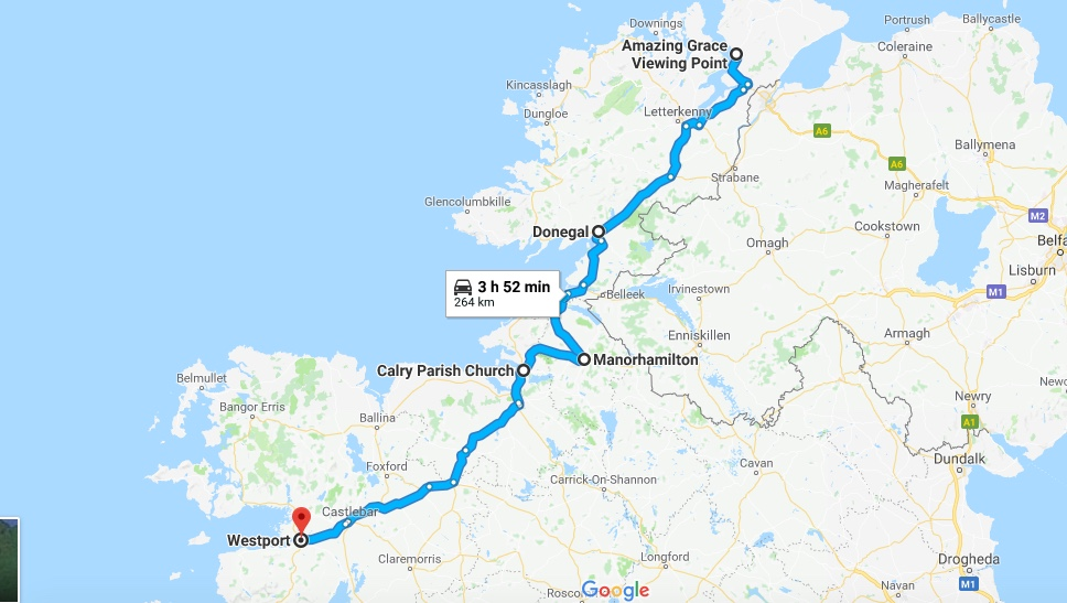 Day One:  Buncrana, Co. Donegal to Westport, Co. Mayo