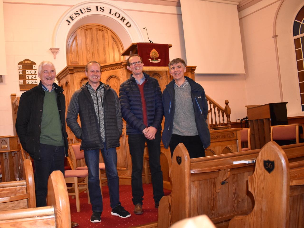 (left to right) David Lamberton, Trevor Fergusson, Ivan Fergusson and James Lamberton.