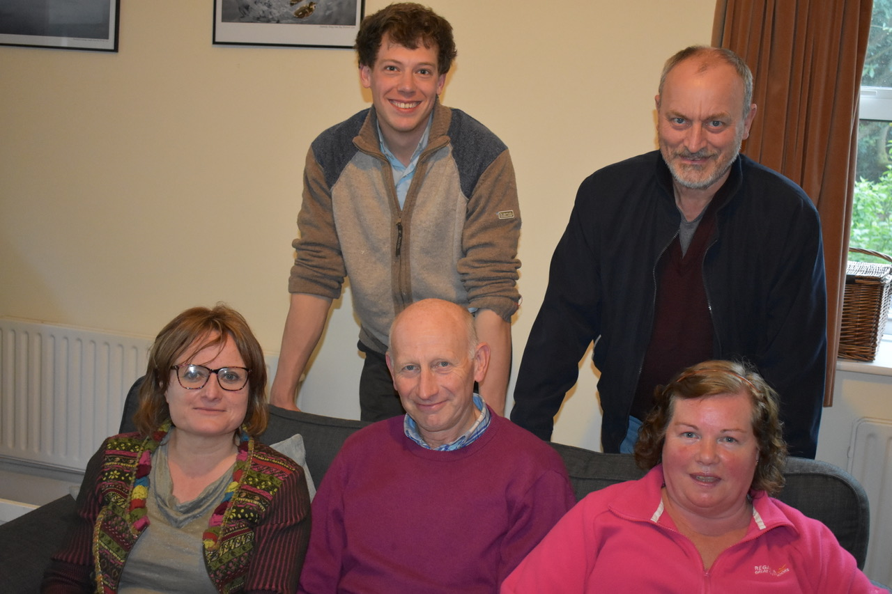 (back row left to right) Rev. Simon and Reg (front row left to right) Patricia, Ian and Gwen.