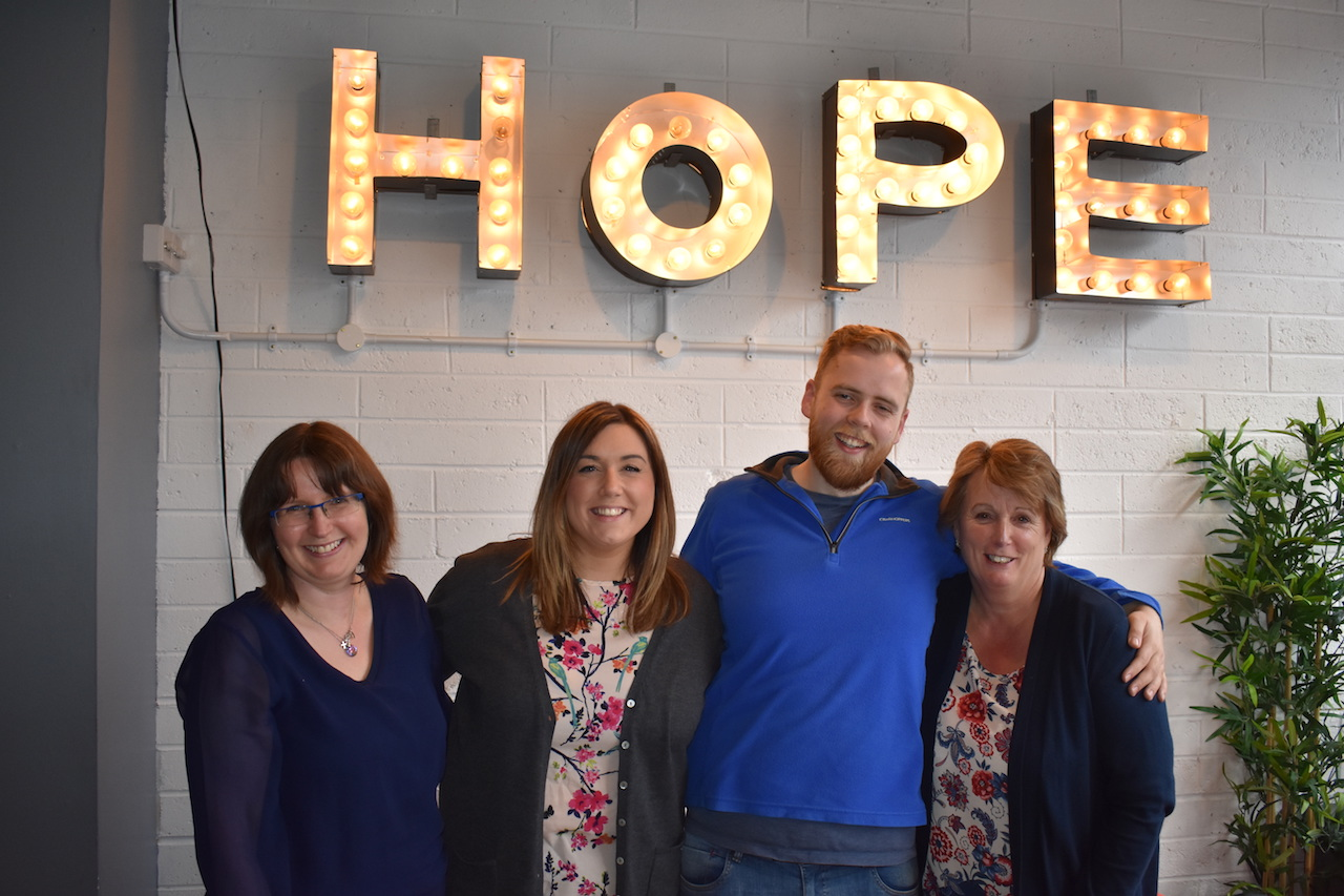 (Left to right) Gayle, Claire, Josh and Marion at Hope, Monaghan