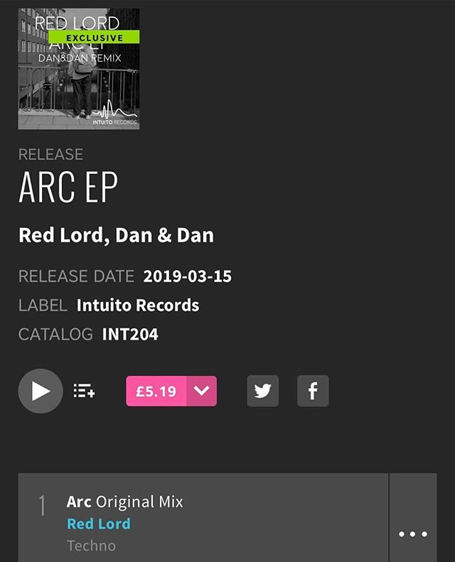 O U T - N O W  https://www.beatport.com/release/arc-ep/2523621  #intuitorecords #redlord #ARC