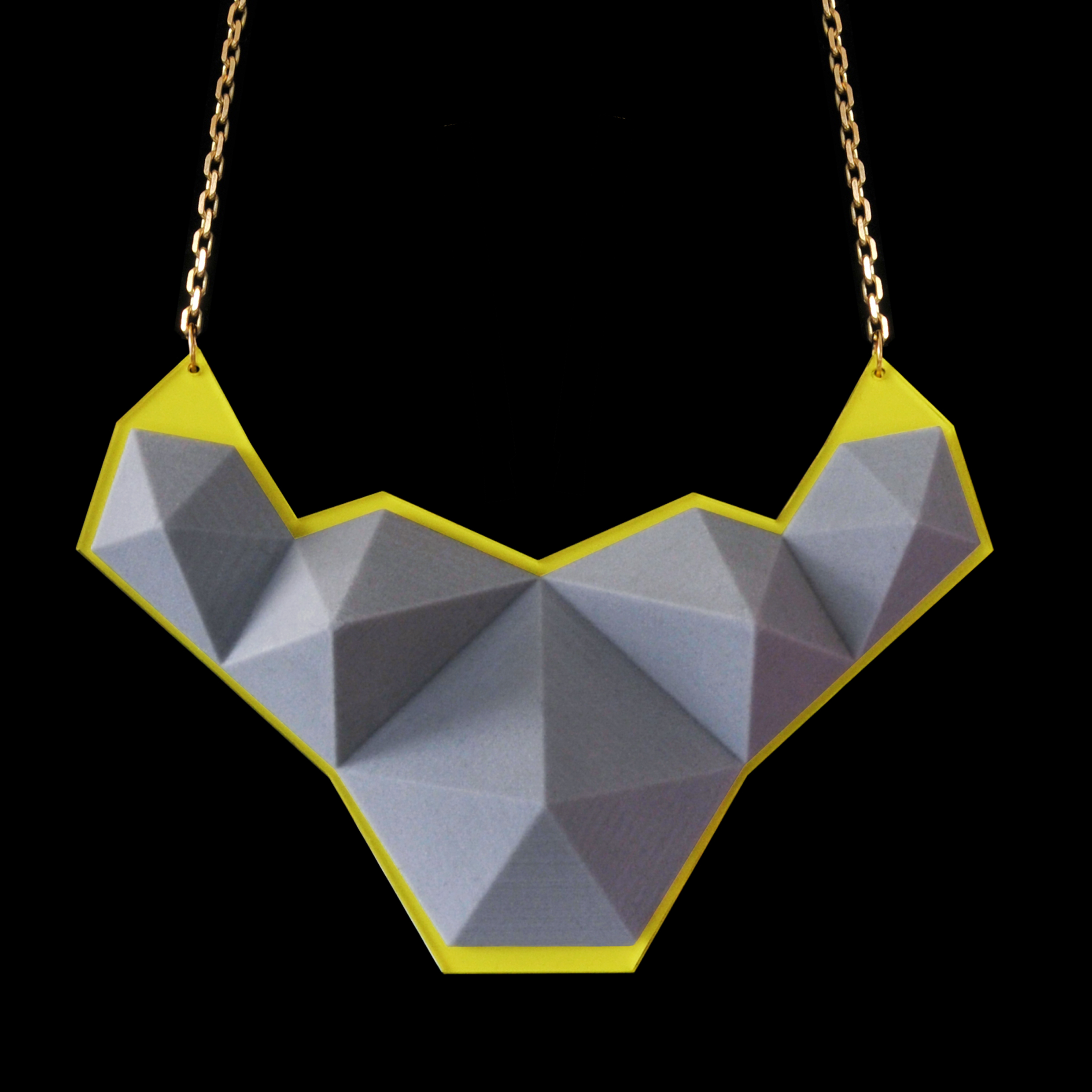 Stilio Necklace:  3D printed on the zCorp 350 with Acrylic back