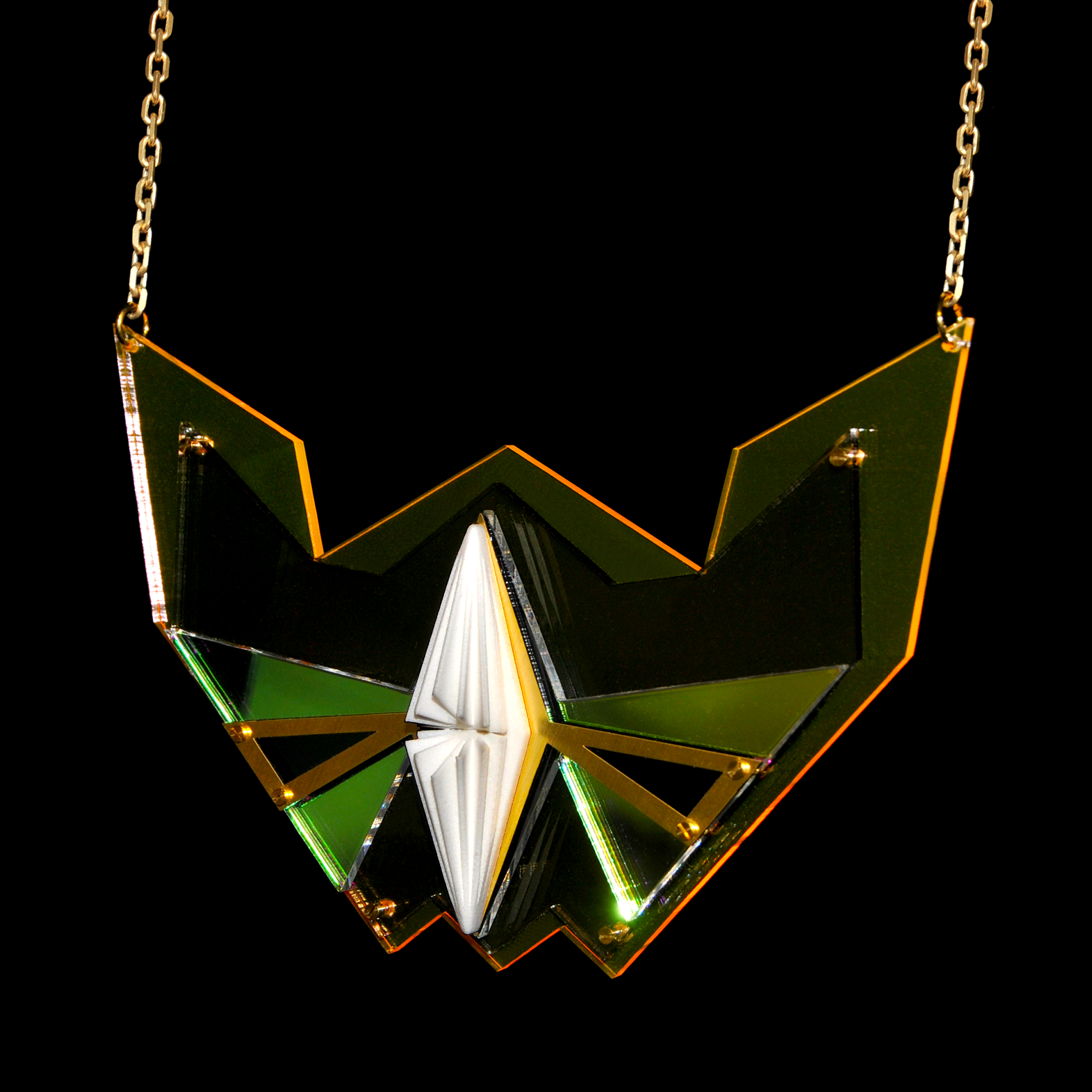 Tasura Necklace: 3D print with Acrylic backing