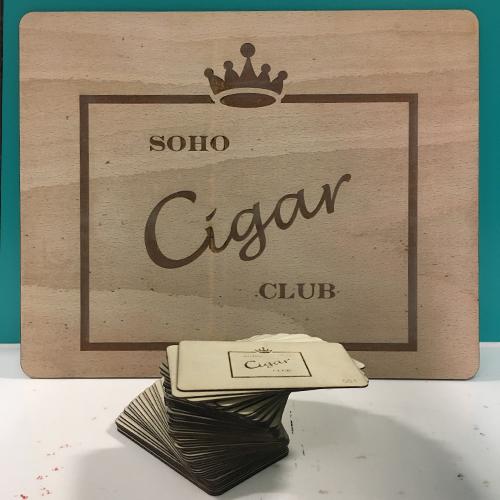 Soho Cigar Club Signage & Membership Cards