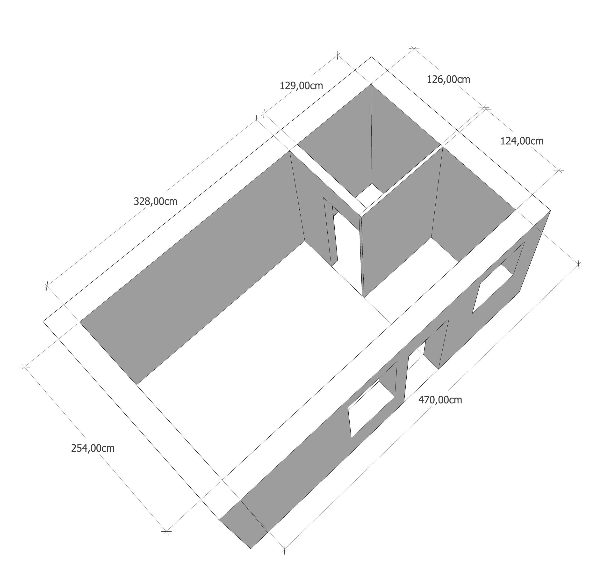 Axonométrie - état des lieux