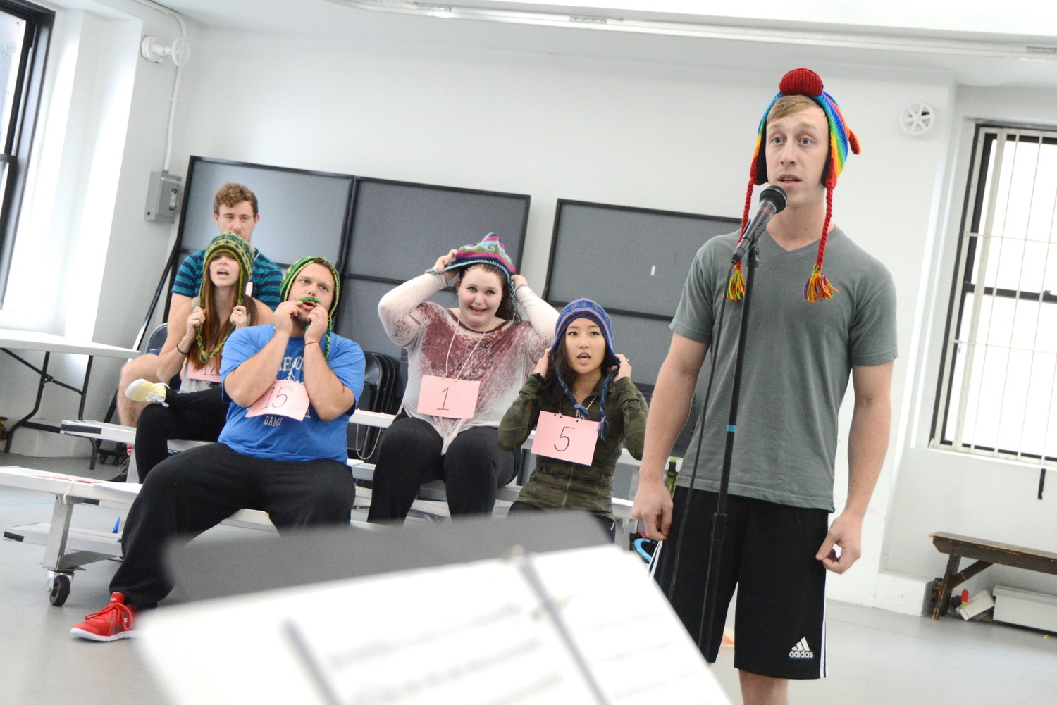 Cast in 1st week of rehearsals - Behind the scenes photographs