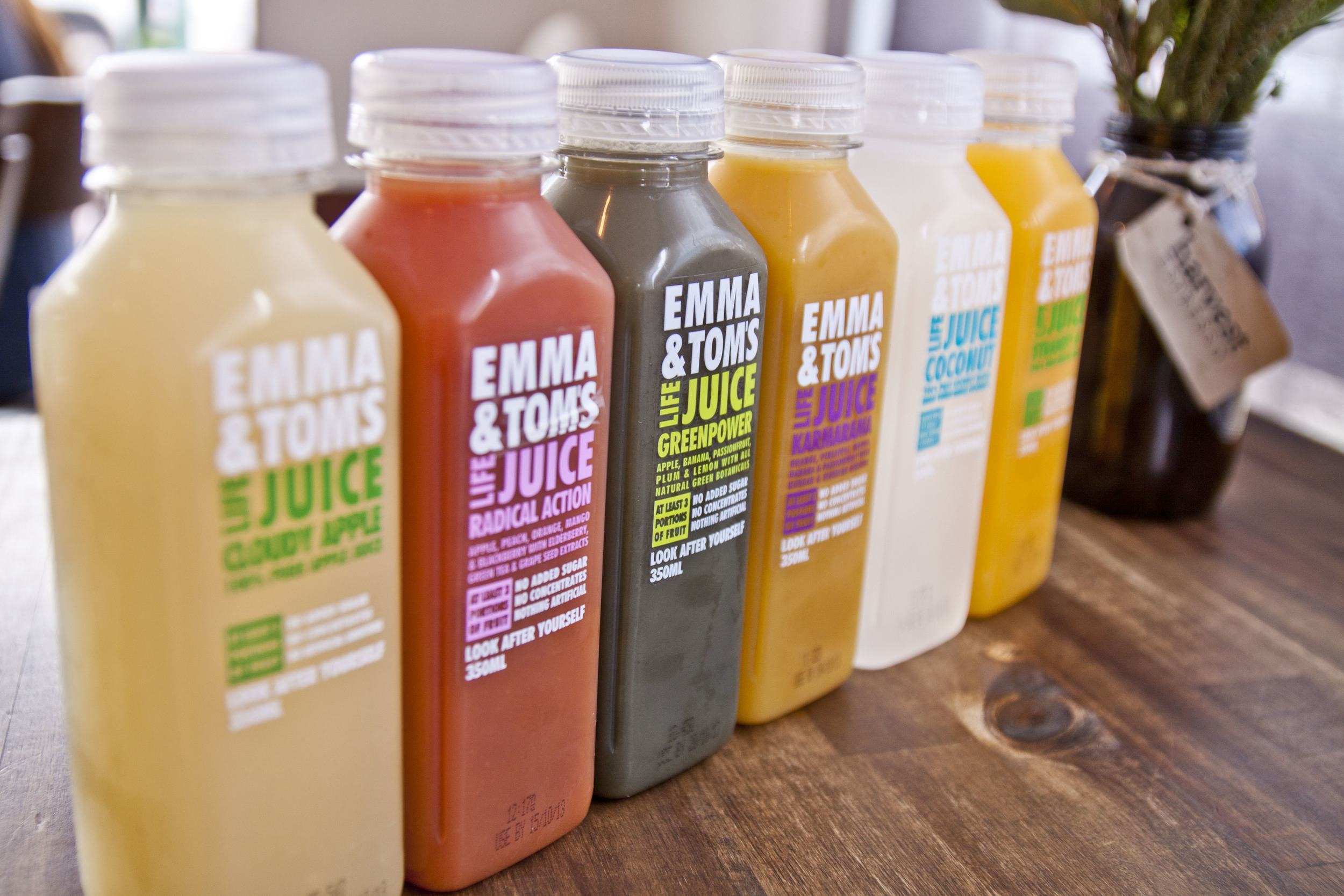 Emma & Toms Fresh Life Juices for $4.50