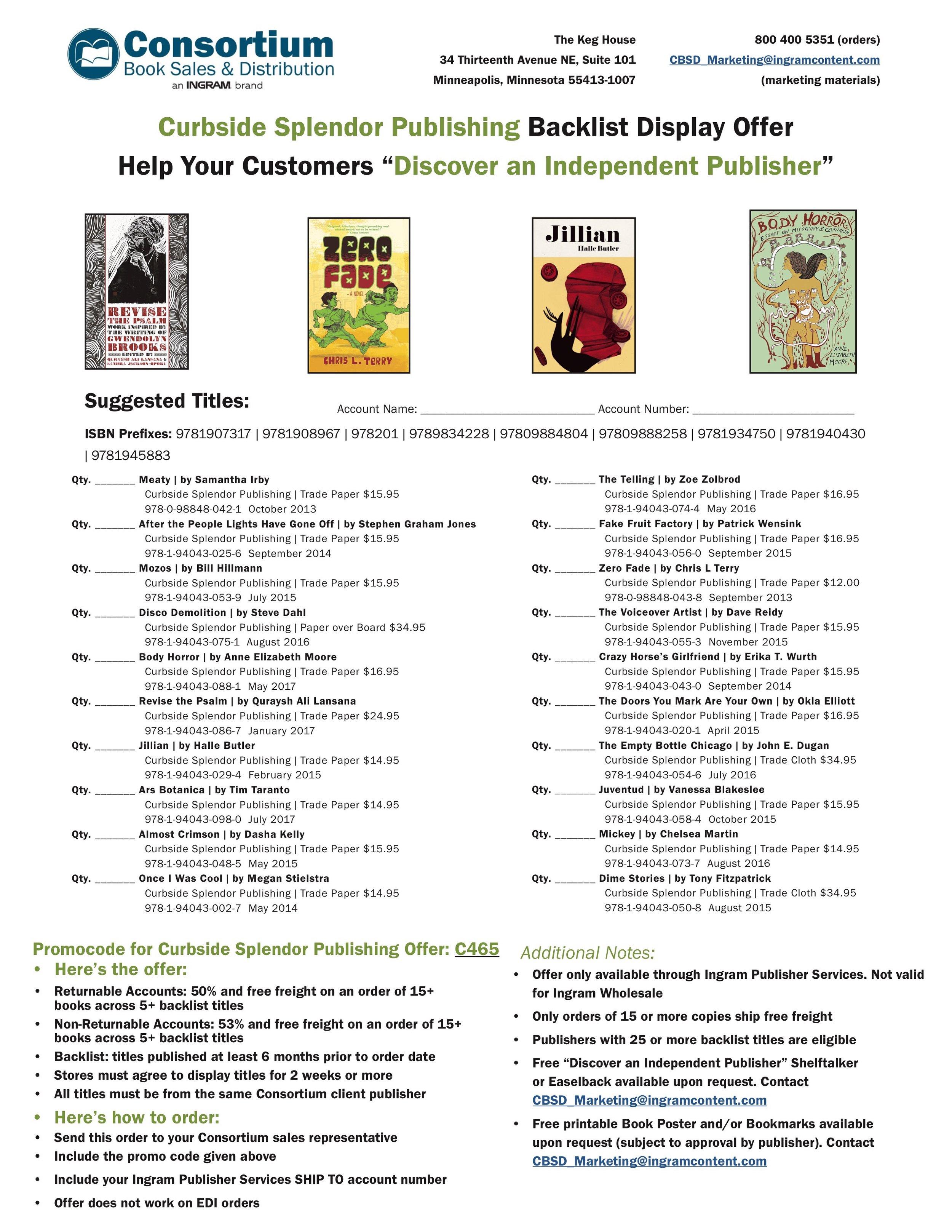 Curbside Splendor Publishing