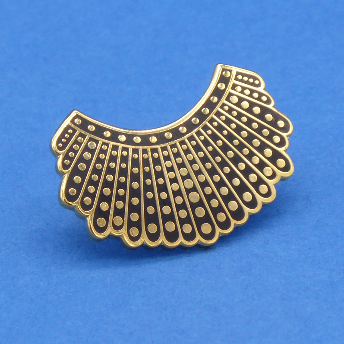 Dissent Collar Pin 24k displayed.png
