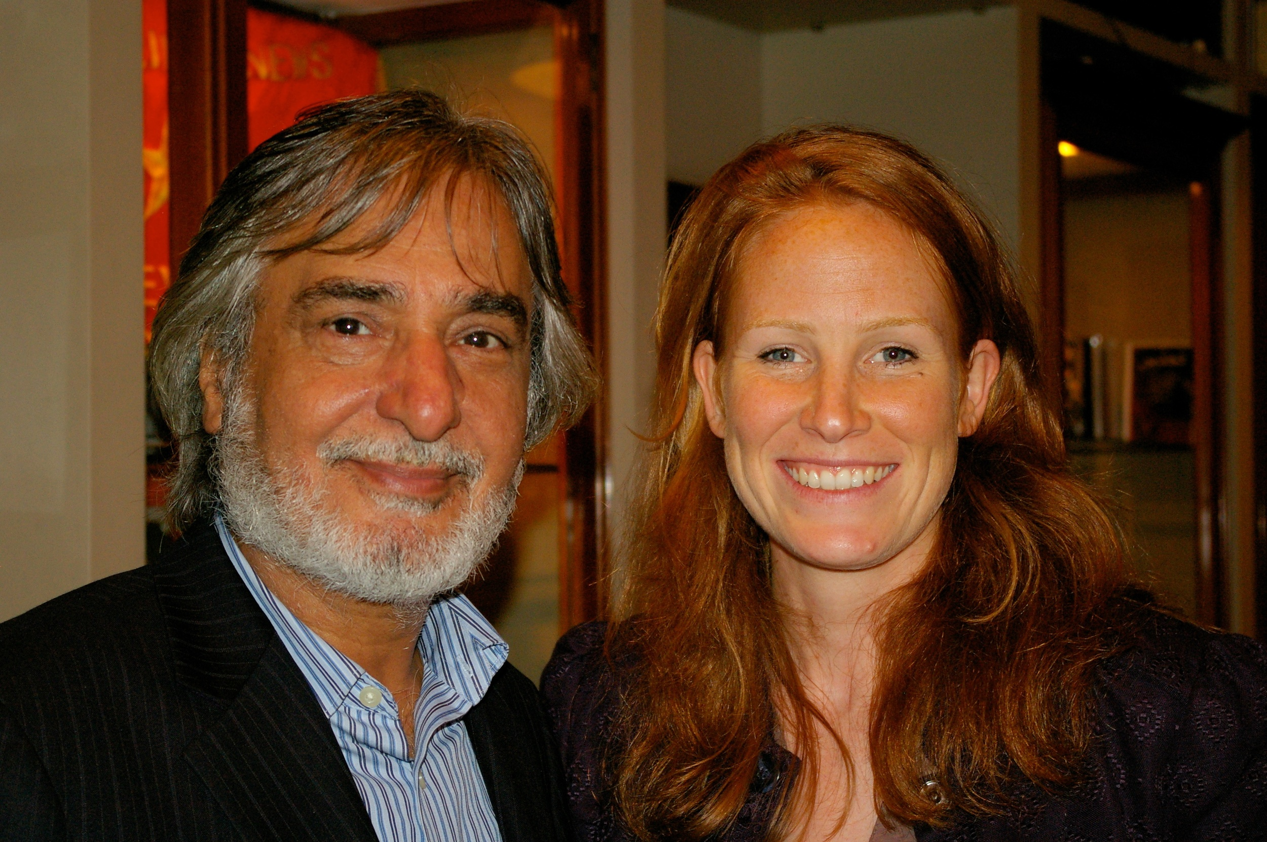 Iraqi poet Nabeel Yasin with Director Georgie Weedon