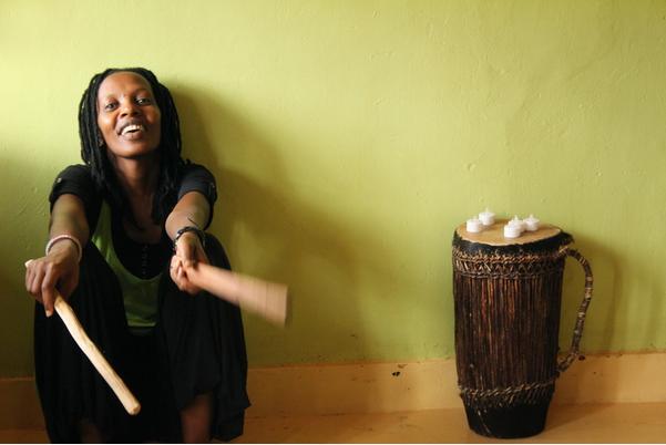 Founder of Mashirika Theatre Company, and director Hope Azeda, Rwanda 2014