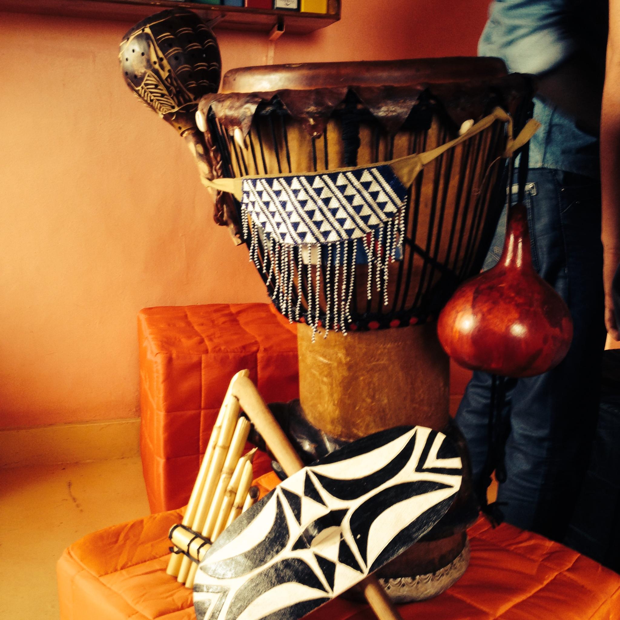 Props at Mashirika Theatre and Media Company, Kigali 2014