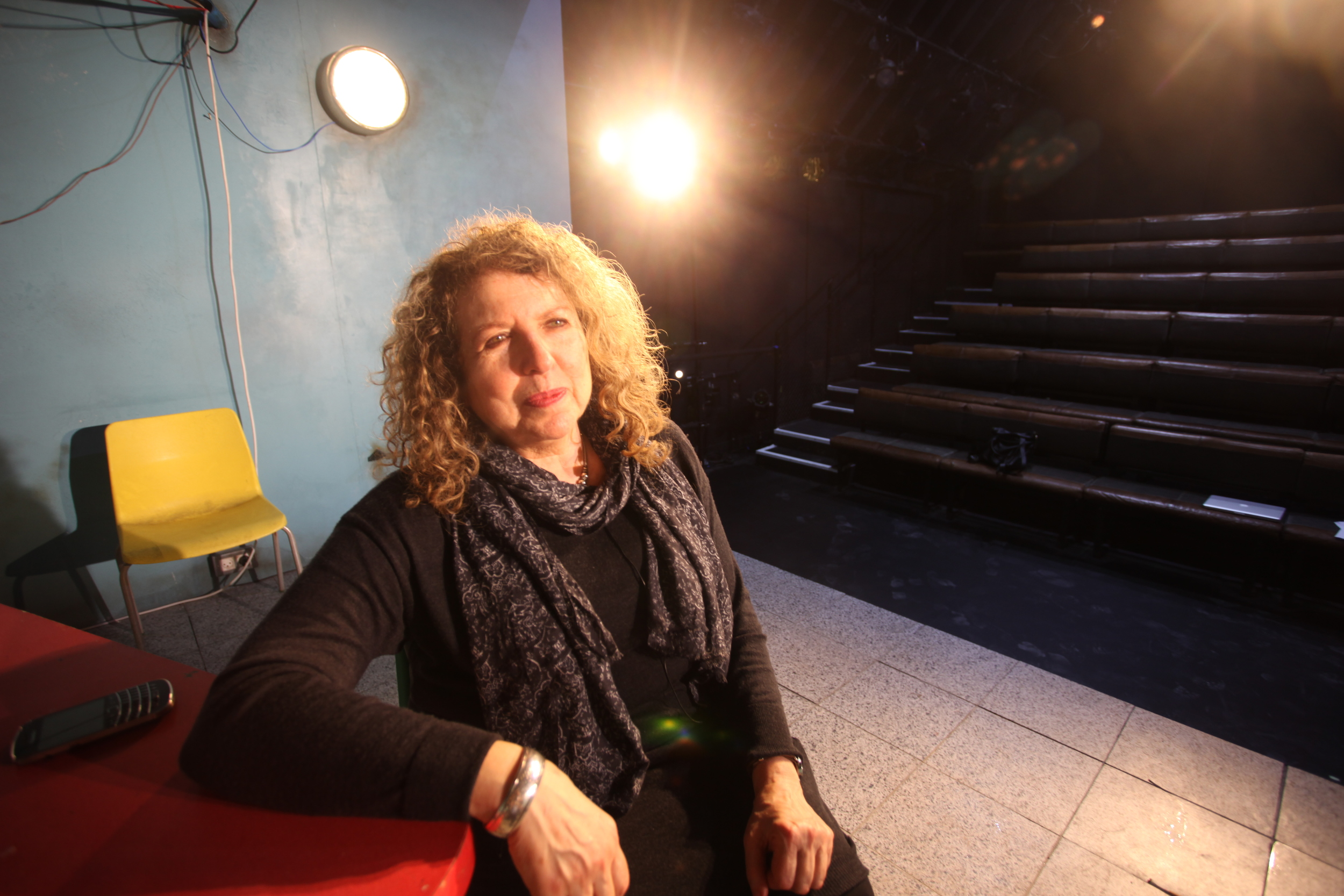 The Royal Court's legendary  International Dir  ector Elyse Dodgson,on the stage of   FIREWORKS   March 2015