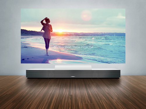The 4k ultra short throw projector, by sony