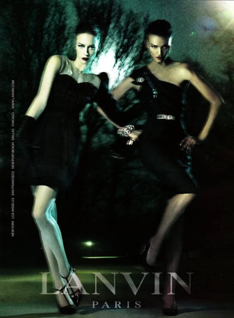 2008 FW Lanvin Liya kebede and Raquel zimmermann by Steven meisel